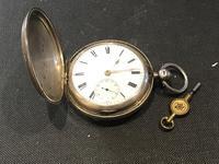 Kate Barnwell Coventry Full Hunter Pocket Watch 1886 Silver Cased