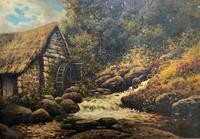 H Sinclair Jackson Superb 19th Century Watermill Landscape Oil Painting (2 of 14)