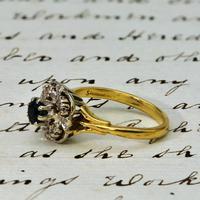 The Vintage Art Deco Style Sapphire & Diamond Ring (2 of 4)