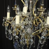 French Gilded & Crystal 10 Light Birdcage Antique Chandelier (2 of 10)