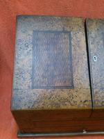 Antique Victorian Letter Sorter Writing Box Burl Walnut Veneer C1880s (12 of 12)
