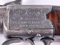 Mid 19th Century Percussion Boxlock Side Hammer Large Pocket Pistol (6 of 7)