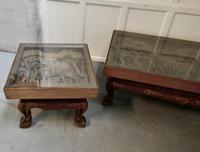 Indian Teak Coffee Table & Side Table Set Carved with Elephants (9 of 11)