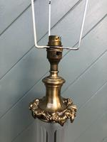 Antique Gilt Brass & Cut Glass Table Lamp (5 of 6)