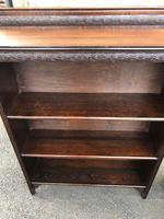 Pair of Antique Oak Open Bookcases (4 of 10)