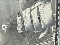 """Edwardian Watercolour """"Champion Of The Seas"""" Ship Black Ball Line Off Cape of Good Hope Signed Pierhead Artist Williams (26 of 39)"""