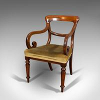 Antique Serpentine Armchair, English, Mahogany, Elbow Seat, Regency c.1820 (3 of 11)
