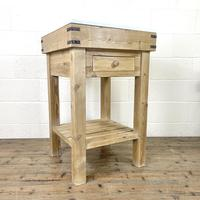 Rustic Wooden Butcher's Block with Marble Top (3 of 10)