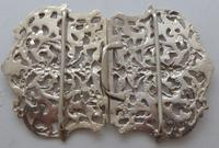 Large Victorian 1897 Hallmarked Solid Silver Nurses Belt Buckle (7 of 7)