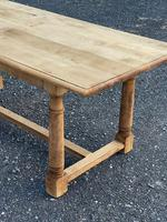 Rustic Bleached Oak Farmhouse Dining Table (12 of 25)