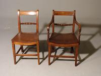 Good & Original Set of Six '4+2' Mid 19th Century Walnut & Oak Chairs (2 of 6)