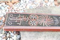 Scandinavian / Danish 'Folk Art' Horse handle mangle board with chip carving & original  black/red paint BPD c.1820 (6 of 19)