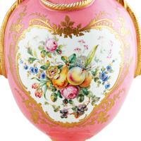 Victorian Coalport Porcelain Vase & Cover (4 of 8)