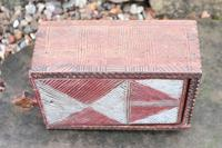 Scandinavian / Swedish 'Folk Art' painted & geometric chip-carved timplåda / sliding-lid box early 19th Century. (6 of 11)