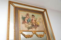 Very Tall Antique Giltwood Mirror with Oil Painting (5 of 12)