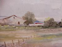 Large oil tranquil landscape artist Barbara Coner (free shipping to mainland england) (8 of 10)