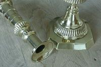 Fine Pair of Scottish Marriage Candlesticks 11inch Through Pushers c.1890 (3 of 6)