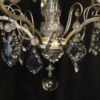 French Silver Gilded 5 Light Antique Chandelier (2 of 11)