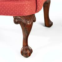 Very Good Pair of Early 20th Century Mahogany Framed Wing Chairs (5 of 6)