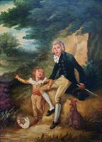 Lovely 18th Century Georgian Revival Gilt-Framed Oil on Panel Portrait Painting (4 of 8)