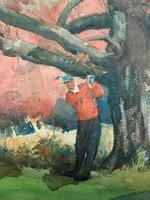 Leland Gustavson R.W.S Original Sporting Golfer Watercolour Painting (5 of 12)