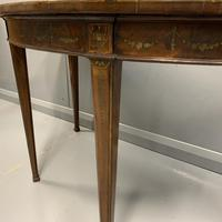 18th Century Decorated Demi-lune Console Table (8 of 11)