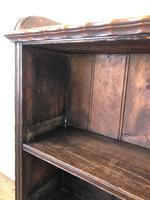 Victorian Walnut Open Bookcase with Gallery Top (7 of 11)