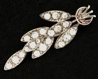 Victorian Silver and Paste Brooch 1877 (2 of 4)