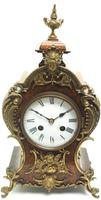 Magnificent French 8-day Mantle Clock Walnut Boulle Striking Mantle Clock (4 of 11)