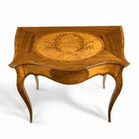Victorian Inlaid Satinwood & Kingwood Table in the Style of Hepplewhite (4 of 10)