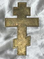 Fine Religious Russian Orthodox Ormolu Gilt Bronze Christ Cross (18 of 19)