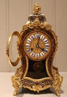 Small French Tortoiseshell and Brass inlay Mantel Clock (10 of 12)