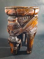 Carved Elephant Side Table (2 of 6)