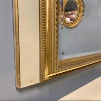 Large French Paint & Gilt Trumeau Mirror (4 of 11)
