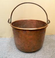 Large Copper Pot / Log Bin