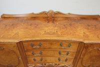 Burr Walnut Queen Anne Style Shaped Sideboard (9 of 13)