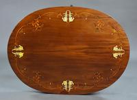 Edwardian Mahogany Inlaid Oval Occasional Table (7 of 9)