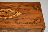 Antique Victorian Marquetry Top Console Table (7 of 12)