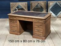 Quality 19th Century French Bleached Pedestal Desk (2 of 25)