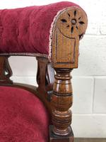 Pair of Victorian Mahogany Upholstered Tub Chairs (12 of 15)