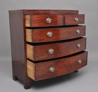 19th Century Mahogany Bowfront Chest (3 of 9)