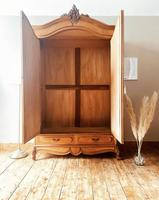 French Antique Style Walnut Armoire / Wardrobe 1940s (6 of 6)