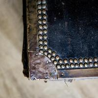 Victorian Leather & Brass Studded Trunk (6 of 14)
