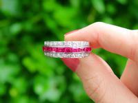 1.06ct Ruby & 0.89ct Diamond, Platinum Ring - Antique c.1890 (2 of 9)