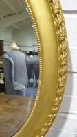 Edwardian Oval Gilt Mirror with Bevelled Glass (2 of 3)