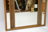 Very Tall Antique Giltwood Mirror with Oil Painting (4 of 12)