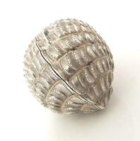 Stunning Victorian Silver Novelty Clam Shell Nutmeg Grater Hilliard & Thomason Birmingham 1874 (7 of 11)