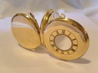 Antique Pocket Watch 1922 Swiss Vertex 7 Jewel Half Hunter 10ct Gold Filled Fwo (4 of 12)