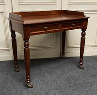 Victorian 2 Drawer Writing Table or Desk (16 of 16)