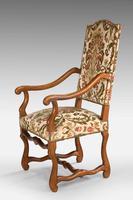 Pair of Beech Wood 17th Century Design Armchairs c.1900 (3 of 6)